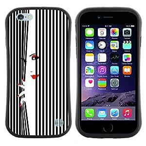 """Hypernova Slim Fit Dual Barniz Protector Caso Case Funda Para Apple (5.5 inches!!!) iPhone 6 Plus / 6S Plus ( 5.5 ) [Labios mujer Uñas Rojo Blanco Negro""""]"""