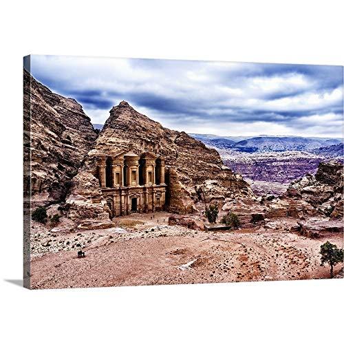 GREATBIGCANVAS Gallery-Wrapped Canvas Entitled Ad Deir, Monastery of Petra, Jordan by ()