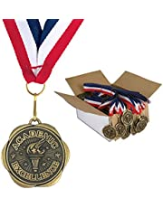 Set of 100 Award Medals with Neck Ribbons - Academic Excellence