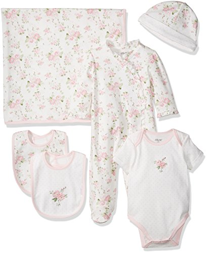 Little Me Girls' Newborn Essentials Gift Set, Pink Floral, New Born