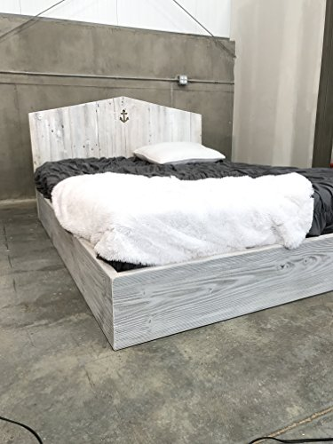 Solid Wood Cottage Bed Frame Custom beach , shabby chic,