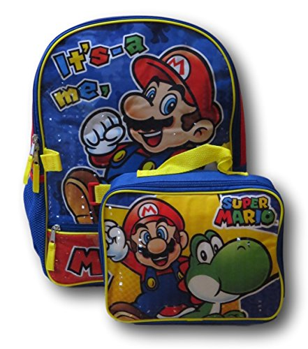 Nintendo Super Mario Bros. Backpack with Detachable Insulated Lunch Box by Super Mario