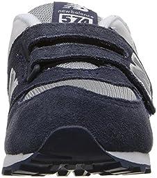 New Balance Boys\' KG574 Lifestyle Sneaker, Navy, 8.5 M US Toddler