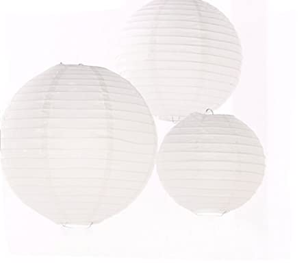 12 pack mixed size white round chinese paper lantern lampshade for 12 pack mixed size white round chinese paper lantern lampshade for wedding party centerpieces decoration aloadofball Gallery