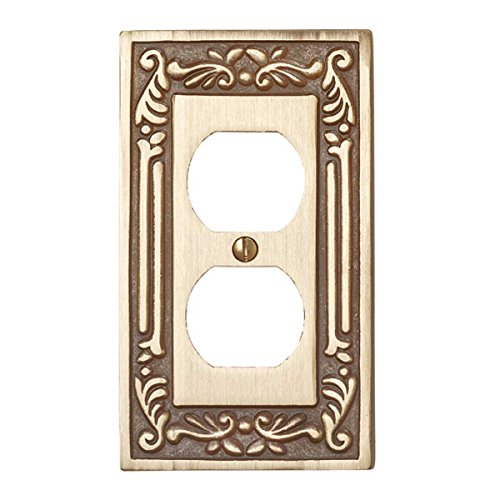 Brass Outlet Cover Switch Plate Vintage Style Victorian Wall Plate Set Of (Vintage Victorian Brass)
