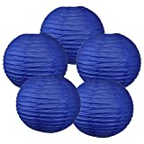 Just Artifacts 16'' Royal Blue Chinese Japanese Paper Lanterns (Set of 5) - Click for more Chinese/Japanese Paper Lantern Colors & Sizes!