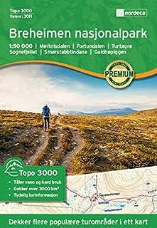 Carte de randonnée Norvège | Parc Topo 30001: 50000 Nordeca