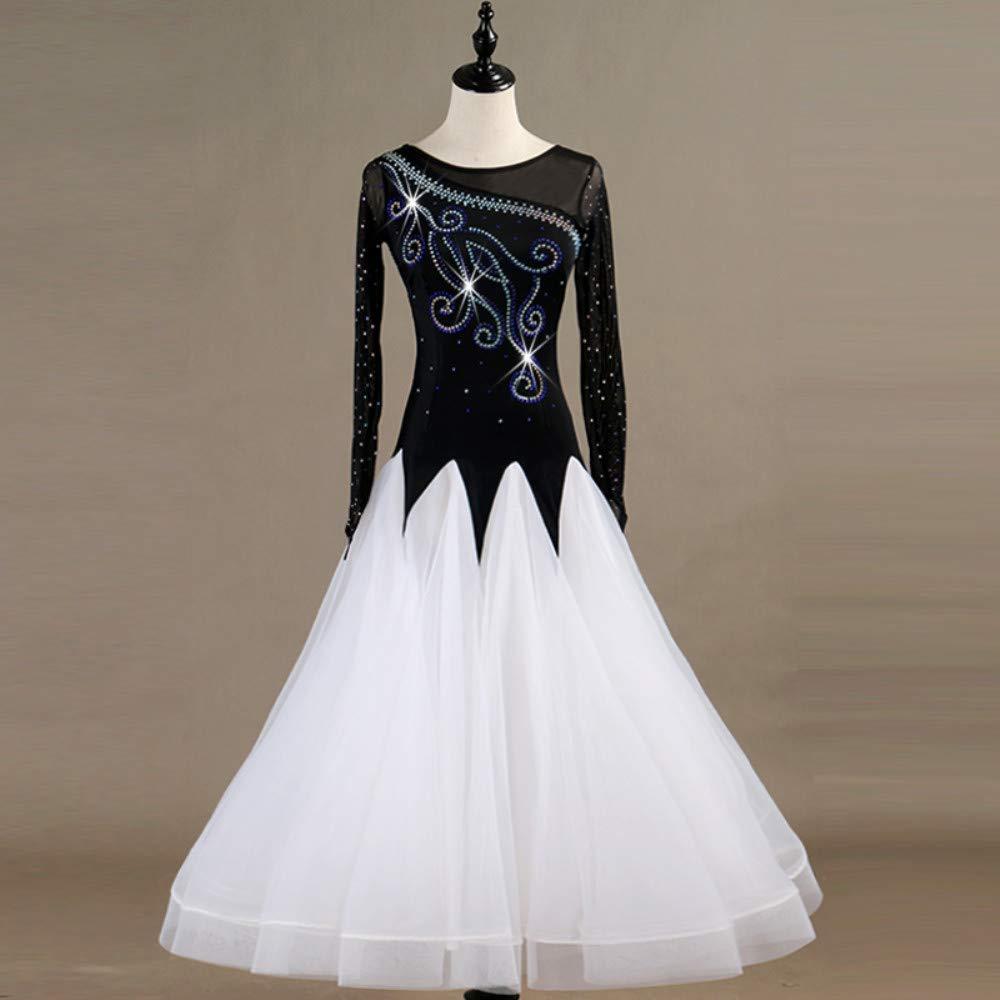 格安販売の 現代のワルツタンゴパフォーマンスコスチューム滑らかな全国標準社交ダンスドレスコンペティションダンスの衣装グレートスイング Black B07PCKRW3H Small Black B07PCKRW3H Black Small Black Small, グシカワシ:be4ceb1e --- a0267596.xsph.ru