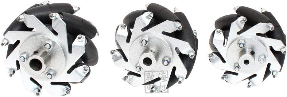 MYAMIA 4pcs 60mm Aluminium Mecanum R/äder Set Universal R/äder mit 4//6//8mm MotorWelle Kupplung f/ür Roboter Auto-4mm