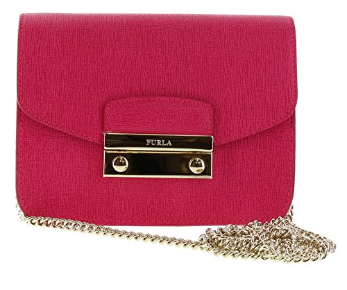 Bag Saffiano Leather Furla Shoulder Crossbody JULIA Gloss Mini U85E57q