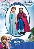 Simplicity Creative Patterns S0733 Disney's Frozen Pattern Costume for Children, A(3-4-5-6-7-8)