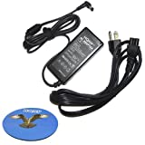 HQRP AC Adapter Charger for Samsung NP-Q330 NP-Q428 NP-QX310 NP-N110 NP-N120 NP-N130 NP-N310 NP-N510 Laptop Notebook, Power Supply Cord + HQRP Coaster