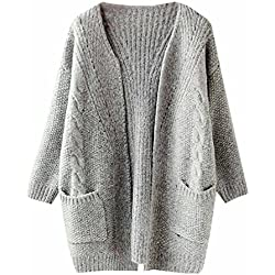 Boyfriend Pocket Open Front Cardigan