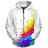 UkEdNs 3D Men Hoodies Zip Up Splatter Color Paint Stains 3D Print Streetwear Casual Jacket Men Women Outwear 02 S