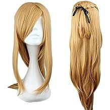 "Mcoser 36"" Brown Long Straight Lolita Synthetic Hair- Sword Art Online Asuna Yuuki Cosplay Wig"