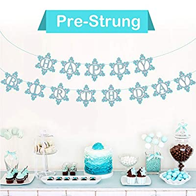 TUPARKA Frozen Birthday Party Supplies for Winter Frozen Birthday Party Decorations Winter Wonderland Party Winter Onederland 1st Girl's Birthday: Toys & Games