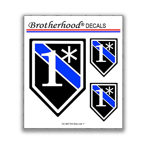 Brotherhood 6 Decals Thin Blue Line One Ass to Risk 1 Decals Police Sheriff Vinyl Decals