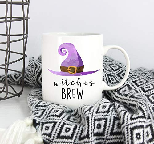 Witches Brew Mug Witch Mug Halloween Mug Witch Hat Coffee Mug Tea Gift Mug Cup Fall Mug Autumn Mug Coffee Bar Decor Halloween for $<!--$11.49-->