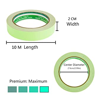 10M /× 1CM Cinta Luminoso de Seguridad Marca de Seguridad Glow in The Dark Tape Cinta Autoadhesiva Tape Fluorescente