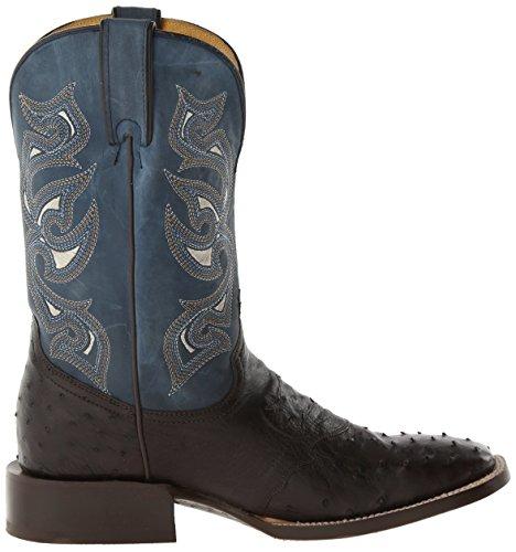 ... Stetson Menns Vestlige Cowboy Boots Firkantet Tå 3640 Brun