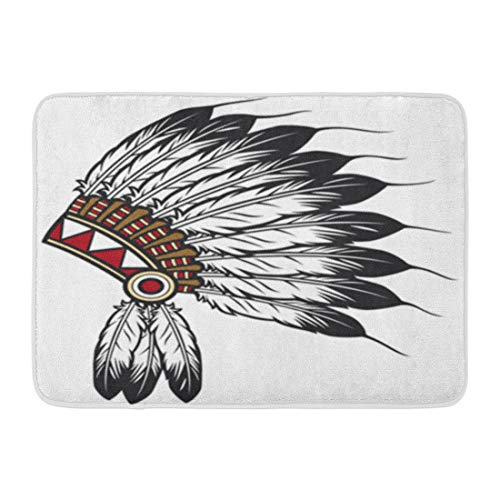Authentic Western Indian Chief Costumes - Tinmun Doormats Bath Mat Rug 16