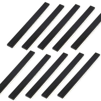 10x Stiftleiste Buchsenleiste 2,54mm Buchse 40 Pin polig Female Header ER