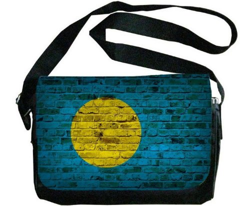 Palau Flag Brick Wall Design Messenger Bag