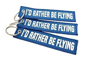 Amazon.com: CG KeyTags Id Rather Be Flying - Llavero de ...