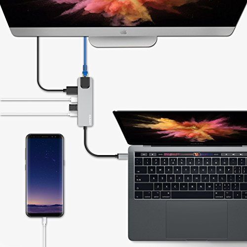 USB C Hub Multiport Adapter, 5-in-1 Colorfulday USB 3.1 Type C Thunderbolt 3 with HDMI 4K, 1000M RJ45 Gigabit Ethernet, 2 USB 3.0 Ports, USB C Power Charging for MacBook/ChromeBook Pixel/USB-C Devices by Colorfulday (Image #6)
