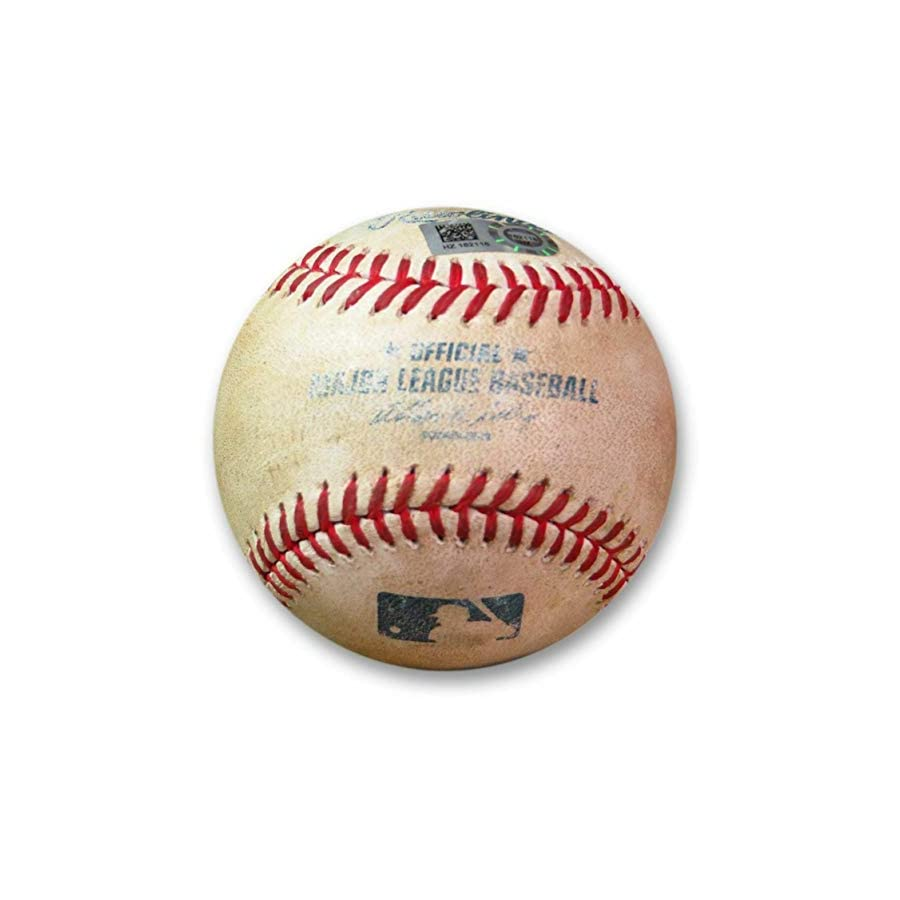 Aaron Harang Game Used Baseball 7/29/14 Hit Single off Beckett Braves HZ162118 Beckett Authentication