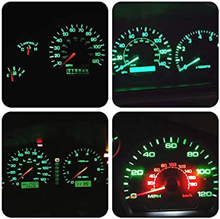 WLJH 6Pack T10 168 194 Led Bulb Replacement Instrument Cluster Panel Dashboard Dash Light Bulbs 1//2 Twist Lock Socket PC194 PC160 PC161 PC195 PC168-12V Green