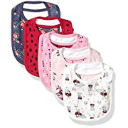 Rosie Pope Baby Girl's 5 Pack Bibs Baby Costume, flowers, One Size
