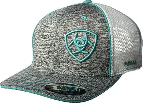Ariat Hat (Ariat Men's Heather Teal Mesh Cap, Gray, OSFM)