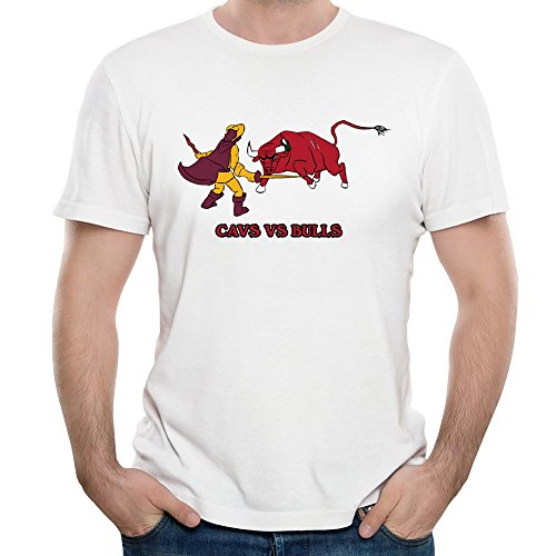 DF Mans Chicago Bulls Vs Cleveland Cavaliers T-shirt White L