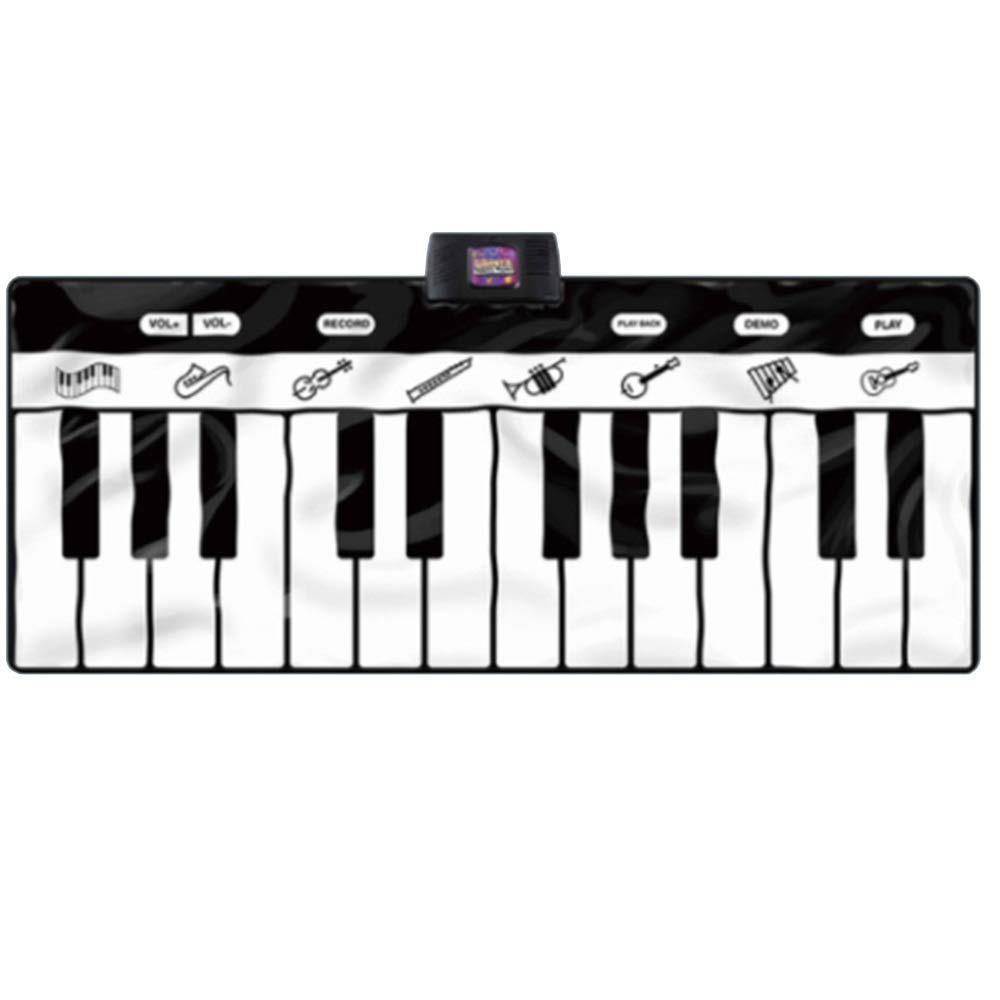 Play Keyboard Mat 71 Inches 24 Keys Giant Jumbo Sized Musical Keyboard Playmat With Record Playback Demo Play Adjustable Vol Foldable Floor Keyboard Piano Dancing Activity Mat Step And Play Instrument by GAOCAN-gq (Image #4)