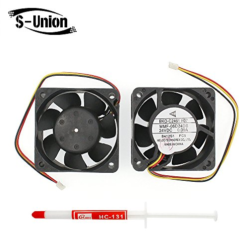 FanEngineer Generic New Cooling Fan BKO-C2461H07 for Melco Technorex MMF-06D24DS Series Replacement Parts FC5 24VDC 0.09A 3 wire Dimensions:606025.2 mm by Generic
