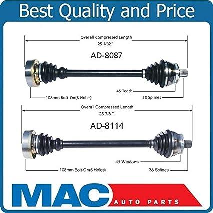 Amazon.com: 100% Brand New Front CV Axle Fits Audi A6 Quattro 2.7L Turbo 00-04 Manual Trans: Automotive