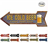 beer bar signs - HANTAJANSS Bar Signs Retro Ice Cold Beer Signs for Wall Decoration