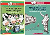 Scholastic Video Collection 2-DVD Bundle - Click, Clack, Moo: Cows that Type & Make Way for the Ducklings: and More Robert McCloskey Stories