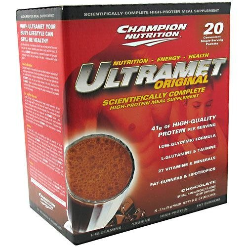 Champion Nutrition Ultramet Packets Chocolate, 20 Pkt by Champion Nutrition