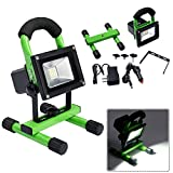 New Green Portable 10W Cordless Work Light Rechargeable LED Flood Spot Camping Lamp