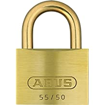 ABUS 55MB/50 B KA 2-Inch All Weather Solid Brass Keyed Alike Padlock with Brass Shackle