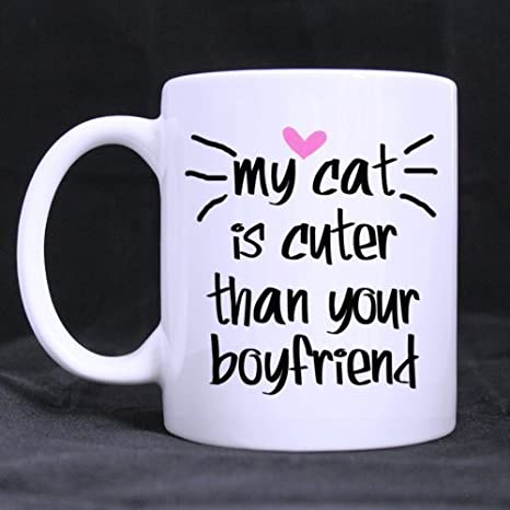 Christmas Gift Ideas For Your Boyfriend.Amazon Com My Cat Is Cuter Than Your Boyfriend Mug Or Gift