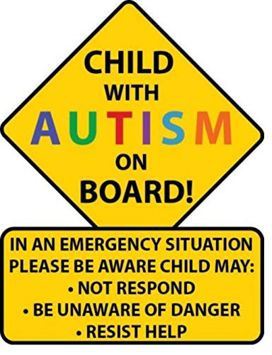 Child With Autism Car Truck Decal Sticker. Alert Responders -