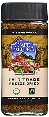 Cafe Altura Organic Fair Trade Instant Coffee, Pack of 1