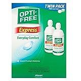 opti free express - OPTI-FREE Express Multi-Purpose Disenfecting Solution, Everyday Comfort 2 x 10 FL oz