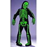 Kids Scary Green Bones Skeleton Boy Halloween Costume Medium (8-10)