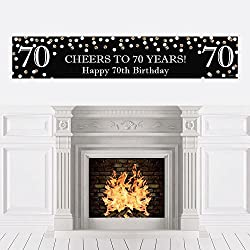 Adult 70th Birthday - Gold - Birthday Party Decorations Party Banner