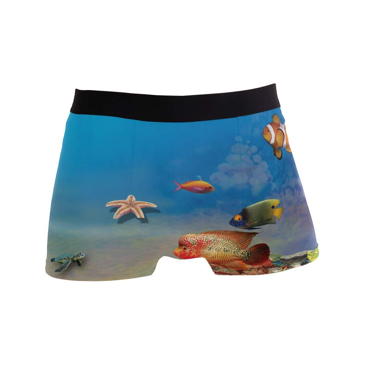 Fish Boxer Briefs for Men Mens Comfortable Underwear