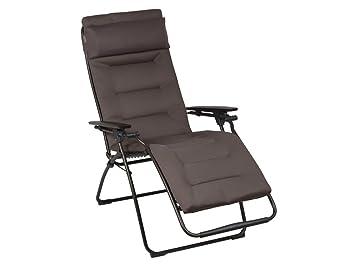 Sedia A Sdraio Tessuto : Xl poltrona relax sole sedia a sdraio imbottita taupe la fuma